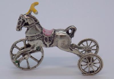 Vintage Solid Silver Italian Made Children Toy Miniature, Figurine, Stamped