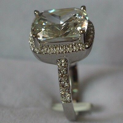 nscd sona 3ct diamond ring engagement proposal bridal lab PT950 square cushion n