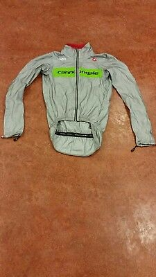 Original Castelli Cannondale pro Cycling Regenjacke Rainjacket (XS)