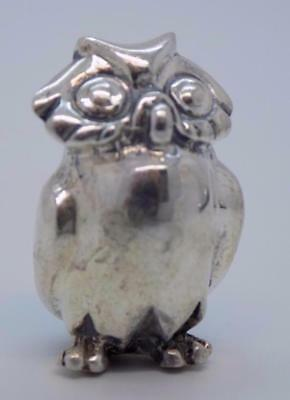 Vintage Sterling Silver 925 Italian Made Owl Miniature, Figurine, Stamped
