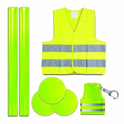 Style-A-Ride Kid's Reflective Jacket/Keyring/Snap Bands Safety Set - Yellow