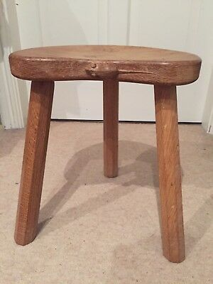 Robert Thompson (mouseman) 3 legged Calf stool