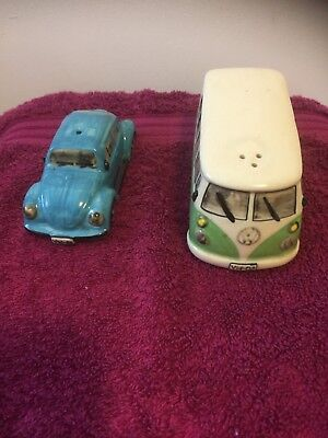 Volkswagen Camper and VW Beetle Salt and Pepper set for sale