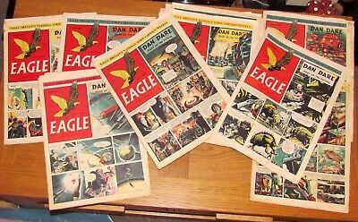 39 Eagle Comics 5th Jan - 28th Sept 1951 in a fair to good reasonable Condition