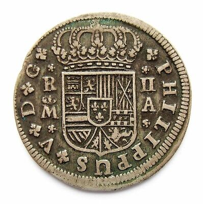 Spain Philip V  2 Reales  1721  Madrid Mint