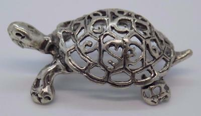 Vintage Solid Silver Italian Made Turtle Miniature, Figurine, Stamped*