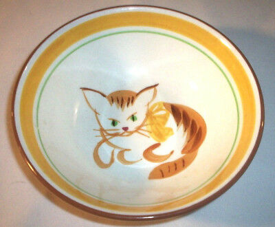 Stangl Pottery Kiddieware:1965 GINGER CAT #5176: Handpainted Child's Bowl:EXC:NR