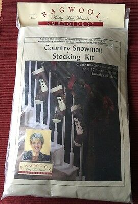 Ragwool Rag Wool Embroidery Country Snowman Stocking Kit Rug Hooking New Crafts