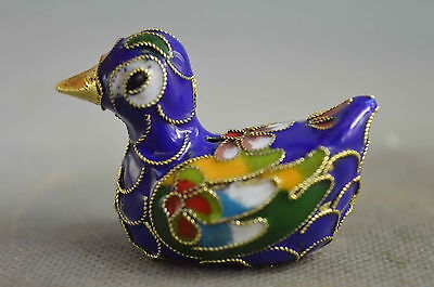 china collectible handmade cloisonne carve mandarin duck royal lucky statue