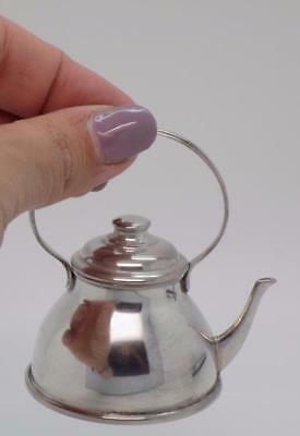 Vintage Solid Silver Italian Made Teapot Shaped Box, Stamped, Very Sweet