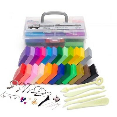 24 Colors Polymer Clay DIY Soft Modelling Clay Set 5pcs Non-toxic Tool Supply