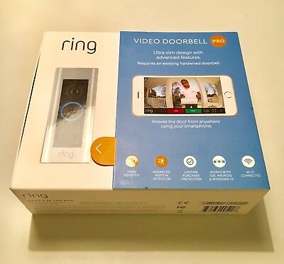 Brand New Ring WiFi Video Doorbell PRO. Newest edition