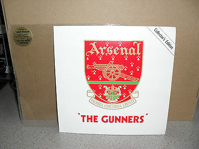 The Arsenal The GUNNERS FC 1980/81 7'' Gold Record Collectors Edition 33&1/3 rpm