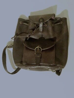 Vintage Mulberry blue leather backpack