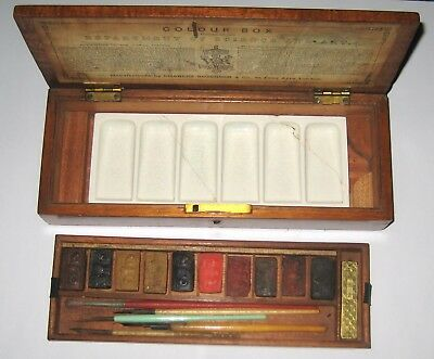 Antique CHARLES ROBERSON artist watercolour paint box