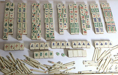A Large Lot of Antique Mahjong Bamboo and Bone Counters etc.