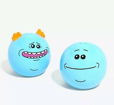 Brand New Rick and Morty Mr. Meeseeks Salt and Pepper Shakers
