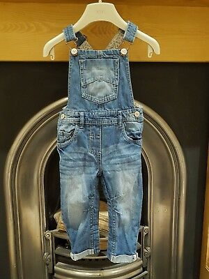 Next Baby Girl Dungarees, 18-24months, VGC