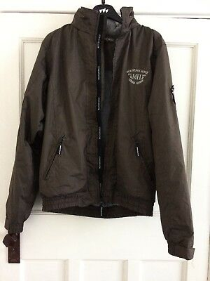 Mountain Horse Crew equestrian riding jacket brown fleece lined waterproof small