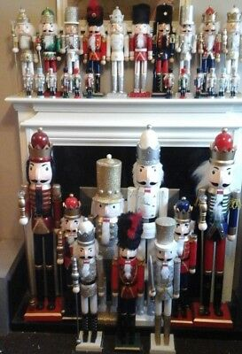 Large Painted Christmas Holiday Nutcracker Soldier  Wooden 13cm to 91cm NEW