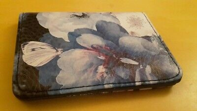 Paperchase Card Ticket Holder Wallet with Floral Butterfly Design Print