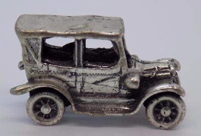 Vintage Solid Silver Italian Made Vintage Car Miniature, Figurine, Stamped