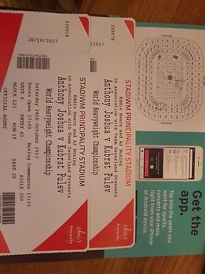 anthony joshua Vs Kubrat Pulev tickets X 2