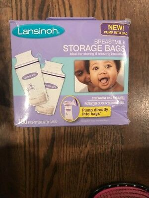 Breastmilk Storage Bags Patented Seal BPA & BPS Free Milk Bag 100ct by Lansinoh