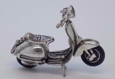 Vintage Solid Silver Italian Made Iconic Vespa Scooter Miniature, Figurine,Stamp