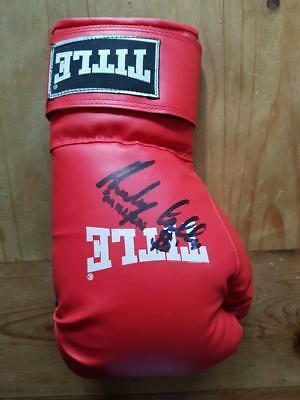 Anthony CROLLA Boxing Champion signed in-person Red Title Boxing Glove AFTAL