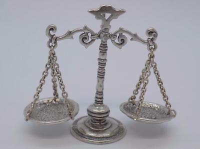 Vintage Solid Silver Italian Made Scale / Libra Miniature, Figurine, Stamped*