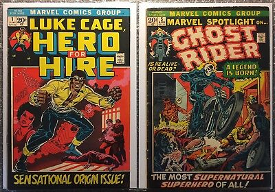 Luke Cage, Hero For Hire #1 (1ST CAGE) & Marvel Spotlight #5 (1ST GHOST RIDER)