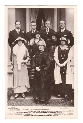 Rare Royalty Postcard. Royalty of Sweden and Greece 1923