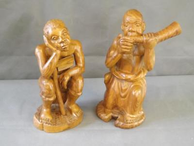 Wooden Carved Figures (9860-PF)