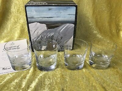 Orrefors Crystal DERBY DAY 200 WINNERS Whiskey Glass Tumbler X 4 Boxed Ltd Ed