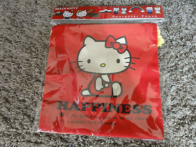 New Sealed Hello Kitty Character Pouch Red Mint