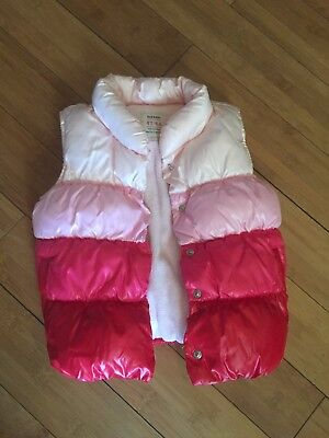 Old Navy Toddler Girls EEUC Pink Puffer Vest, Size 4T