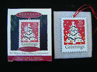 Hallmark Ornament 1995 U.S. Christmas Stamps Canada Box - FREE SHIP US/CAN