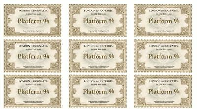 24 Harry Potter Hogwarts Train Tickets Edible Cupcake Toppers