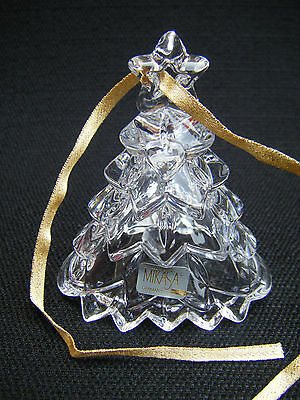 MIKASA Crystal Glass Christmas Ornament Heavenly Music Tree Bell New In Box