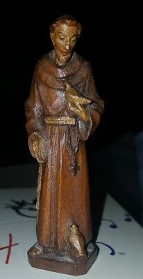 8' Hand Carved Wooden Saint St. Francis Of Assisi wooden figurine White Doves