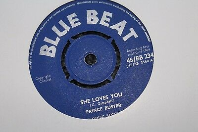 "Prince Buster She Loves You Uk 7"" Blue Beat  Great Copy"