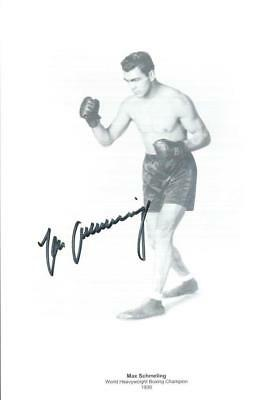 Max SCHMELING (1905-2005) Heavyweight 1930 Boxing Champion signed 8x12 AFTAL