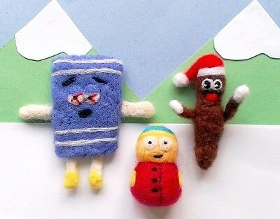 Needle Felted South Park Christmas Ornament Set