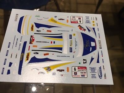decal peugeot 207 s2000 rallye rouergue canivenq  1/43