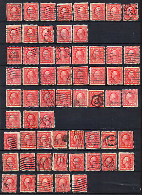UNITED STATES    216 EARLY LOW VALUE USED STAMPS - UNCHECKED for SHADE &  PERFS