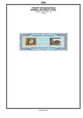 Print an India  Stamp Album Fully Annotated & Completely Colour Illustrated