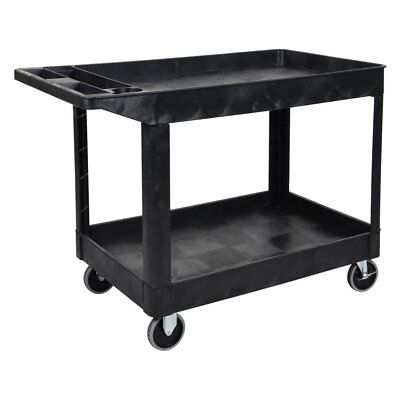 Luxor XLC11-B Two Shelf Heavy-Duty Utility Cart