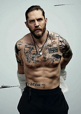 Unofficial TOM HARDY (2) glossy A4 print Poster - hot bum abs sexy body arms