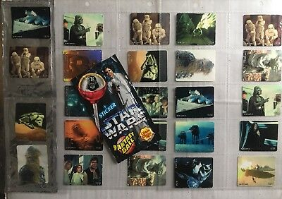 Star Wars Trilogy Foil Lolly Insert Stickers (24) + Wrappers